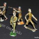 Juguetes Antiguos: SOLDADOS DE PLOMO. LOTE SOLDADOS A PIE. ORIGINALES 1900. Lote 159108546
