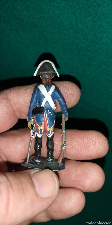 Juguetes Antiguos: Soldado de plomo pintada artesanalmente caballeria de linea regimiento príncipe RAMON LABAYEN - Foto 3 - 160504068