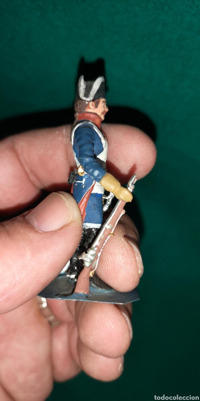 Juguetes Antiguos: Soldado de plomo pintada artesanalmente caballeria de linea regimiento príncipe RAMON LABAYEN - Foto 4 - 160504068