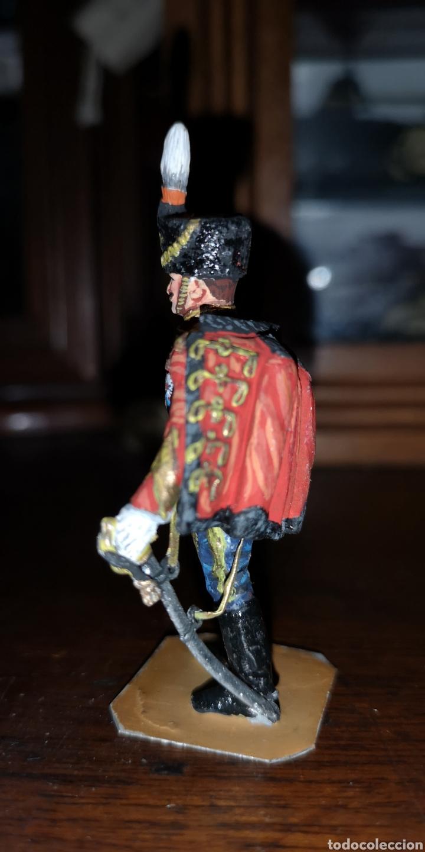 Juguetes Antiguos: Soldado de plomo pintados artesanalmente husar de Rusia - Foto 2 - 161237389