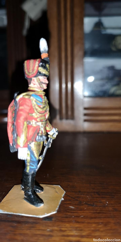 Juguetes Antiguos: Soldado de plomo pintados artesanalmente husar de Rusia - Foto 4 - 161237389