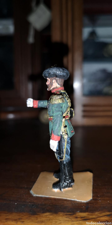 Juguetes Antiguos: Soldado de plomo pintada artesanalmente representando cosaco ruso - Foto 2 - 161237721