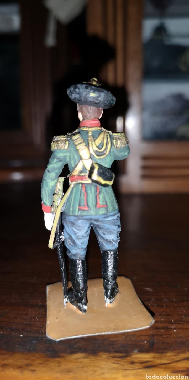 Juguetes Antiguos: Soldado de plomo pintada artesanalmente representando cosaco ruso - Foto 3 - 161237721