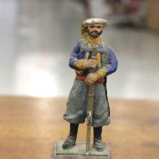 Juguetes Antiguos: FIGURA PLOMO EJERCITO CARLISTA. SOLDADO DE ZUAVOS INFANTERIA DE GUIPUZCOA. 1833-1840. Lote 161241953