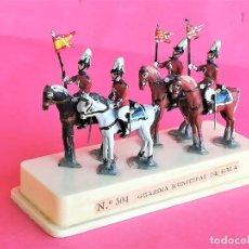 Juguetes Antiguos: SOLDADOS DE PLOMO,GRUPO CABALLERIA GUARDIA MUNICIPAL DE GALA DE BARCELONA,URBANA,ALYMER,AÑOS 60/70. Lote 162409974