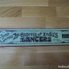 Juguetes Antiguos: BRITAINS LANCEROS SOLDADOS PLOMO 21 ST. LANCERS EN CAJA FIGURAS INGLESAS SET Nº 100. Lote 162477026