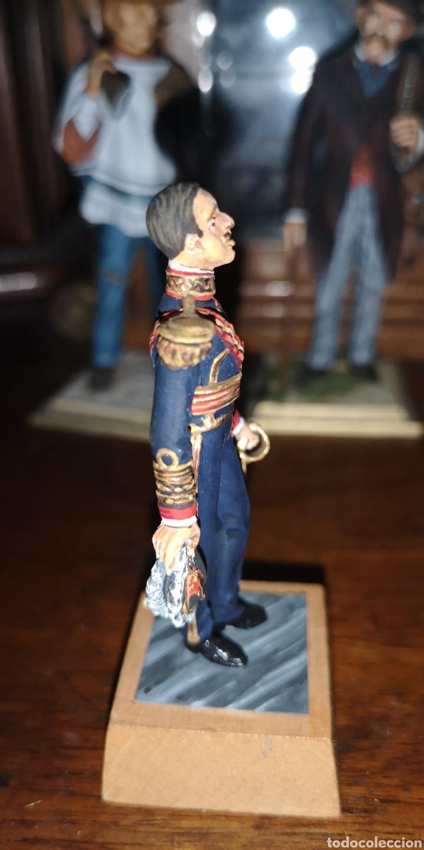 Juguetes Antiguos: Soldado de plomo representando a Alfonso XIII pintados artesanalmente - Foto 4 - 163405676