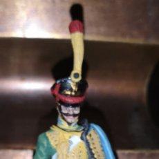 Juguetes Antiguos: SOLDADO DE PLOMO HUSAR DE LA PRINCESA PINTADO ARTESANALMENTE. Lote 163407356