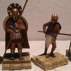 Juguetes Antiguos: LOTE 4 FIGURAS DE PLOMO GRIEGOS Y ATENIENSES 1/32,,1/35. Lote 163416206