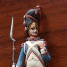 Juguetes Antiguos: ANTIGUO SOLDADO DE PLOMO PINTADO A MANO ARTESANALMENTE DEL REGIMIENTO PROVINCIAL AÑO 1846. Lote 165488133