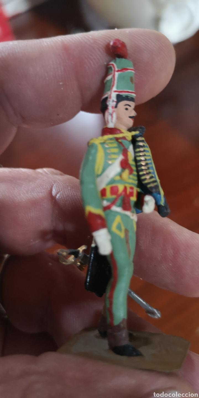 Juguetes Antiguos: Soldado de plomo pintados artesanalmente Húsares de Olivenza 1803 - Foto 4 - 165489841