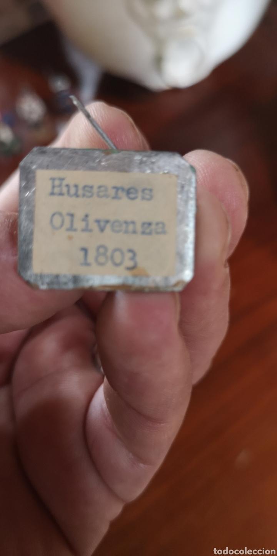 Juguetes Antiguos: Soldado de plomo pintados artesanalmente Húsares de Olivenza 1803 - Foto 5 - 165489841