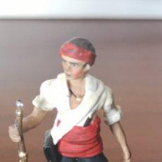 Juguetes Antiguos: SOLDADO DE PLOMO PINTADA ARTESANALMENTE REPRESENTANDO AL GUERRILLERO ARAGONÉS 1808 GUERRA INDEPENDEN. Lote 165491372