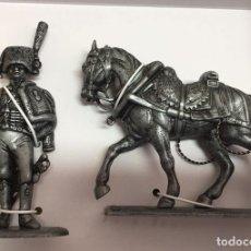 Juguetes Antiguos: 7426 024 SOLDADO Y CABALLO GRAND ARMEE NAPOLEON FIGURA SOLDADO DE PLOMO ATLAS. Lote 178238201