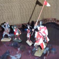 Juguetes Antiguos - Lote de soldados de plomo medievales - 166313833