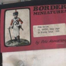 Juguetes Antiguos: SOLDADO DE PLOMO BORDER MINIATURES ZAPADOR DE NAPOLEÓN. Lote 166372170