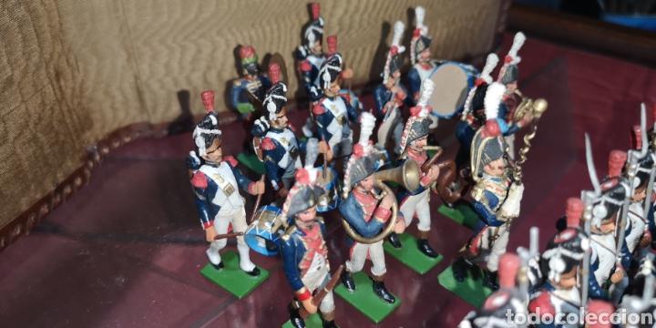 Juguetes Antiguos: Conjunto de soldados napoleonicos de plomo pintados a mano artesanalmente banda y Regimiento de Infa - Foto 4 - 166453818