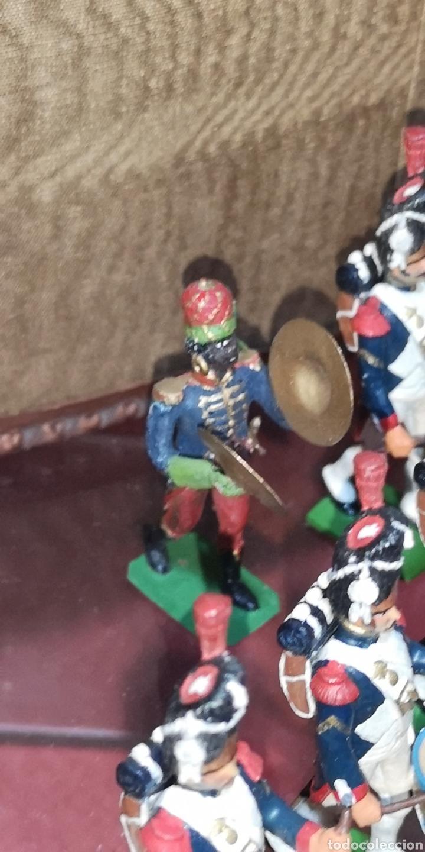 Juguetes Antiguos: Conjunto de soldados napoleonicos de plomo pintados a mano artesanalmente banda y Regimiento de Infa - Foto 5 - 166453818