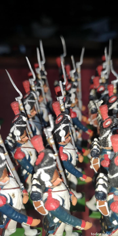Juguetes Antiguos: Conjunto de soldados napoleonicos de plomo pintados a mano artesanalmente banda y Regimiento de Infa - Foto 7 - 166453818