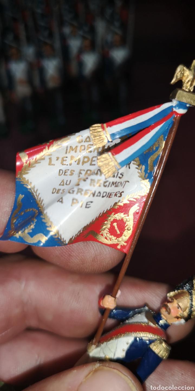 Juguetes Antiguos: Conjunto de soldados napoleonicos de plomo pintados a mano artesanalmente banda y Regimiento de Infa - Foto 8 - 166453818