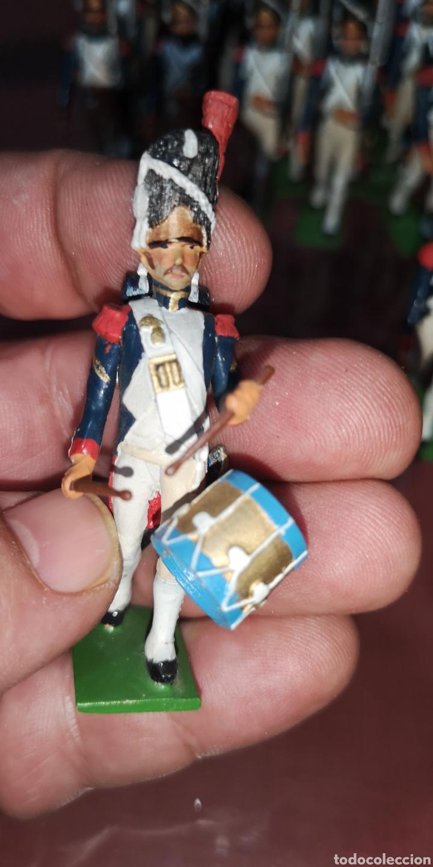 Juguetes Antiguos: Conjunto de soldados napoleonicos de plomo pintados a mano artesanalmente banda y Regimiento de Infa - Foto 16 - 166453818