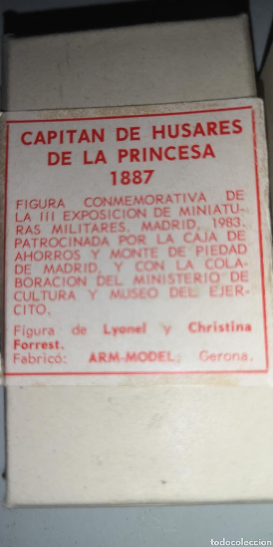 Juguetes Antiguos: Capitán de Húsares de la princesa soldado de plomo - Foto 2 - 166814260