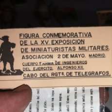 Juguetes Antiguos: SOLDADO DE PLOMO REPRESENTANDO A CABO DEL REGIMIENTO DE TELÉGRAFOS ÉPOCA ALFONSO XIII. Lote 166816092