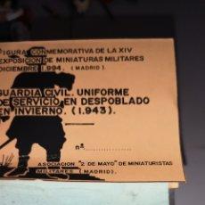 Juguetes Antiguos: SOLDADO DE PLOMO DE GUARDIA CIVIL 1943, ASOCIACIÓN 2 DE MAYO MINIATURISTAS. Lote 166816606