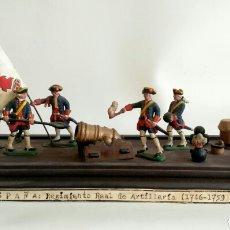 Juguetes Antiguos: ESCENA MILITAR DE SOLDADITOS DE PLOMO. EJÉRCITO ESPAÑA, JUGUETES.. Lote 167534116