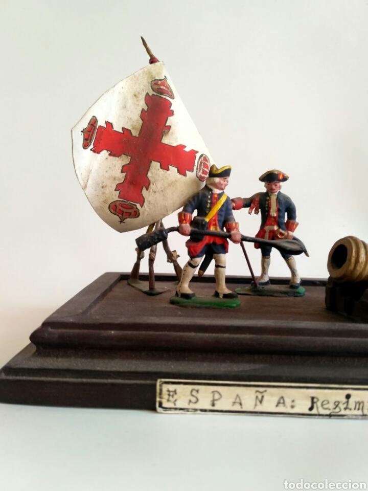 Juguetes Antiguos: Escena militar de soldaditos de plomo. Ejército España, juguetes. - Foto 2 - 167534116