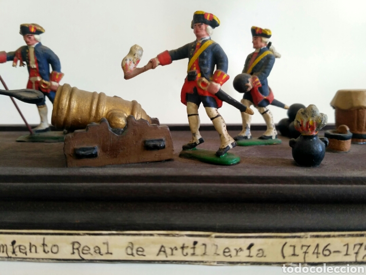 Juguetes Antiguos: Escena militar de soldaditos de plomo. Ejército España, juguetes. - Foto 3 - 167534116