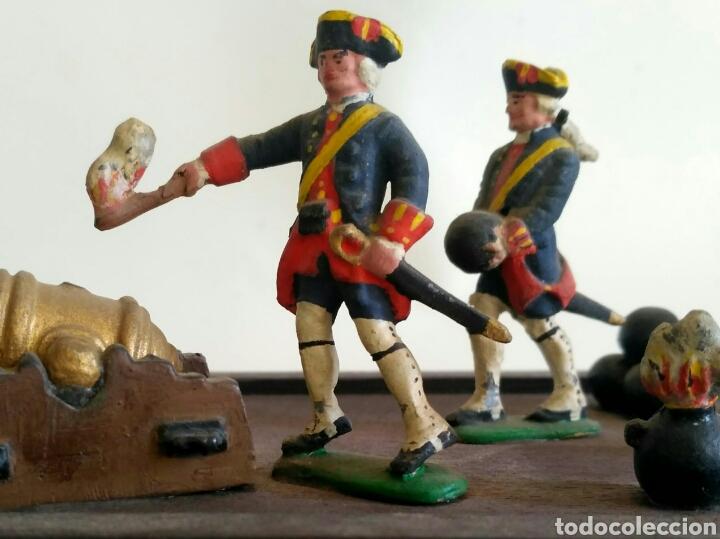 Juguetes Antiguos: Escena militar de soldaditos de plomo. Ejército España, juguetes. - Foto 4 - 167534116