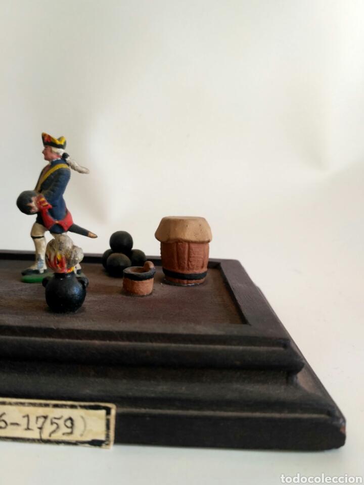 Juguetes Antiguos: Escena militar de soldaditos de plomo. Ejército España, juguetes. - Foto 5 - 167534116