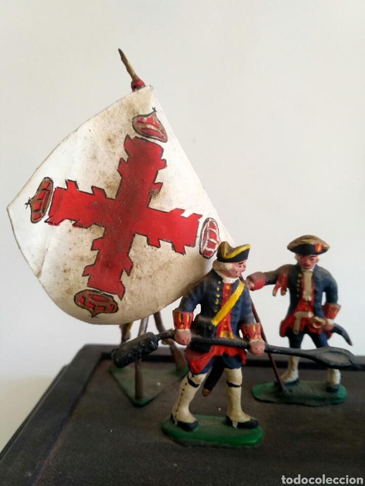 Juguetes Antiguos: Escena militar de soldaditos de plomo. Ejército España, juguetes. - Foto 6 - 167534116