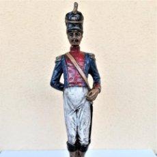 Juguetes Antiguos: SOLDADOS DE PLOMO,GRAN FIGURA DE 23 CM,2 KILOS,INFANTERIA ESPAÑOLA,GUERRA INDEPENDENCIA,AÑOS 1920-30. Lote 168285460