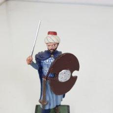 Juguetes Antiguos - Soldado de plomo Alymer oficial persa con espada y escudo de madera - 168825036