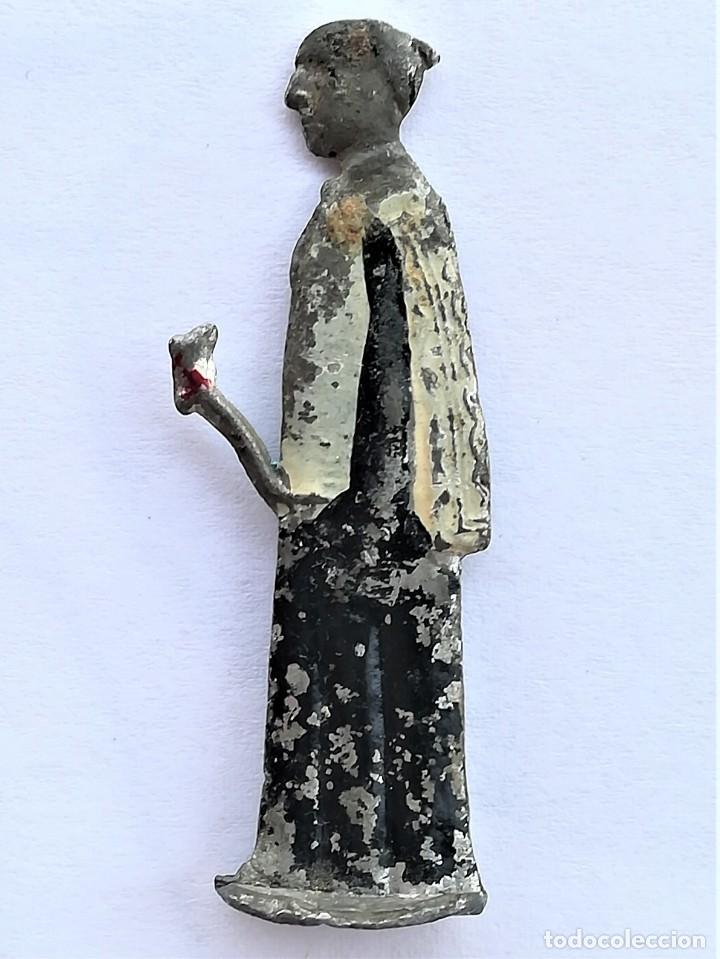 Juguetes Antiguos: ANTIGUA FIGURA RELIGIOSA COMO SOLDADOS PLOMO,1930-40.ARCANGEL SAN MIGUEL,ANGEL DEL CIELO,ORTELLI? - Foto 3 - 169942208