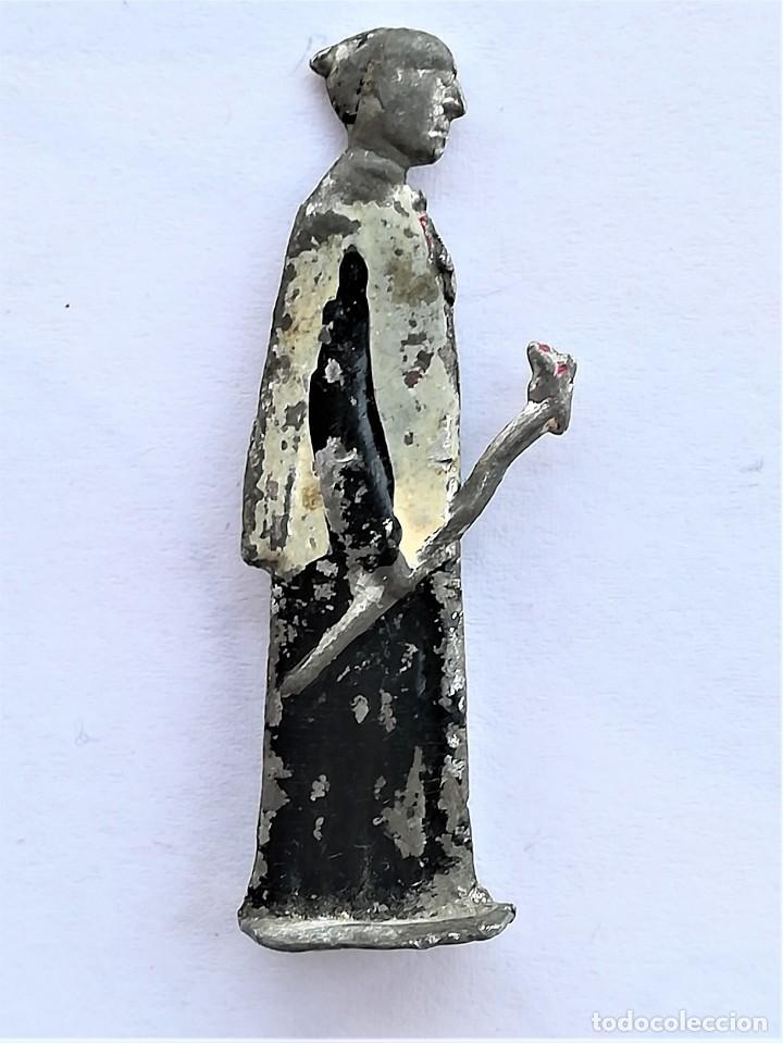 Juguetes Antiguos: ANTIGUA FIGURA RELIGIOSA COMO SOLDADOS PLOMO,1930-40.ARCANGEL SAN MIGUEL,ANGEL DEL CIELO,ORTELLI? - Foto 4 - 169942208
