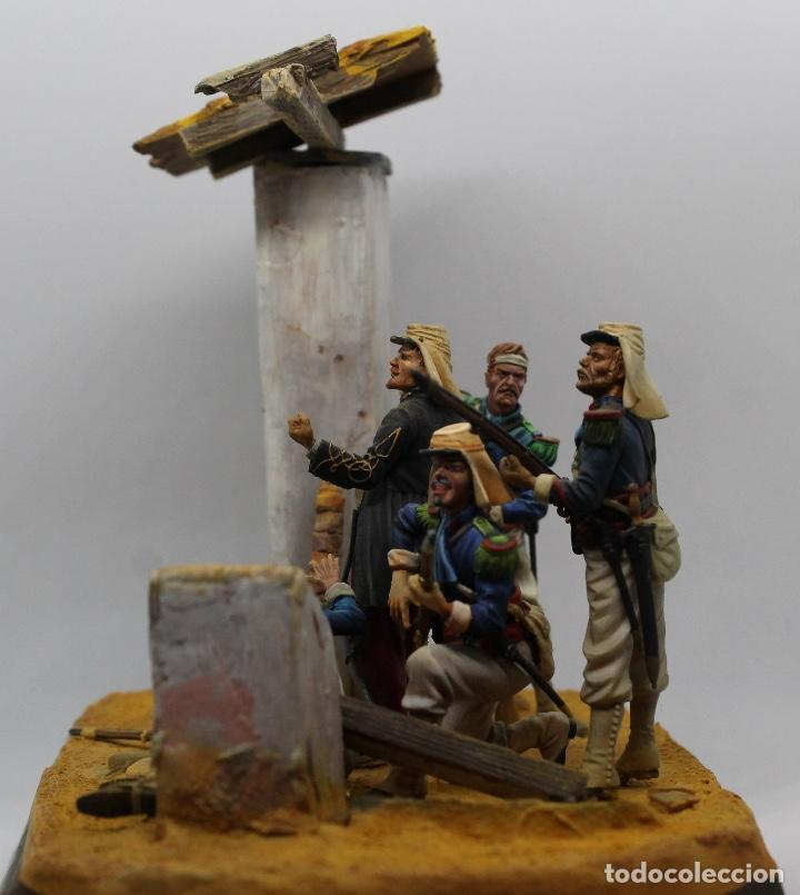 Juguetes Antiguos: Mexico 1863. Diorama en plomo, escala 1/32. Pintado a mano en alta calidad. Imposible de encontrar. - Foto 2 - 170735090