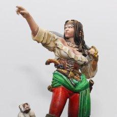 Juguetes Antiguos: ANNE BONNY. MUJER PIRATA. FIGURA EN PLOMO, 75 MM. PINTADO A MANO EN ALTA CALIDAD.. Lote 170846610