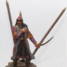 Juguetes Antiguos: BLAD TEPES EL EMPALADOR (DRACULA). FIGURA EN PLOMO, 75 MM. PINTADO A MANO EN ALTA CALIDAD. Lote 170878760