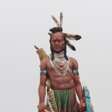 Juguetes Antiguos: GUERRERO PIES NEGROS. FIGURA EN PLOMO DE PEGASO MODELS, 75 MM. PINTADO A MANO EN ALTA CALIDAD. Lote 170879610