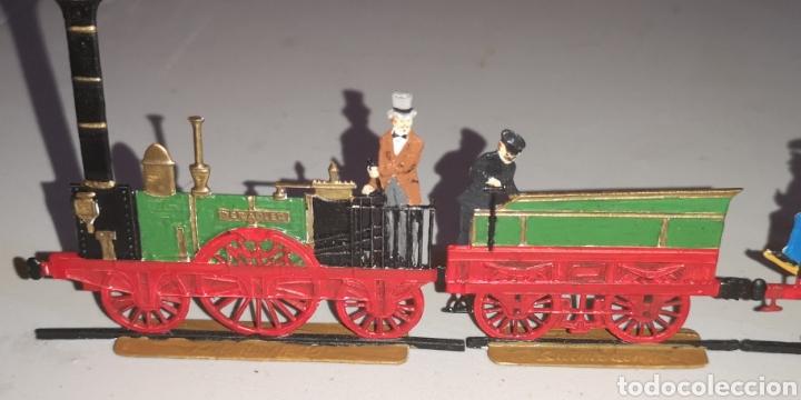 Juguetes Antiguos: Soldados de plomo figuras representando siglo 19 Baviera tren caballos y personajes - Foto 5 - 171693429