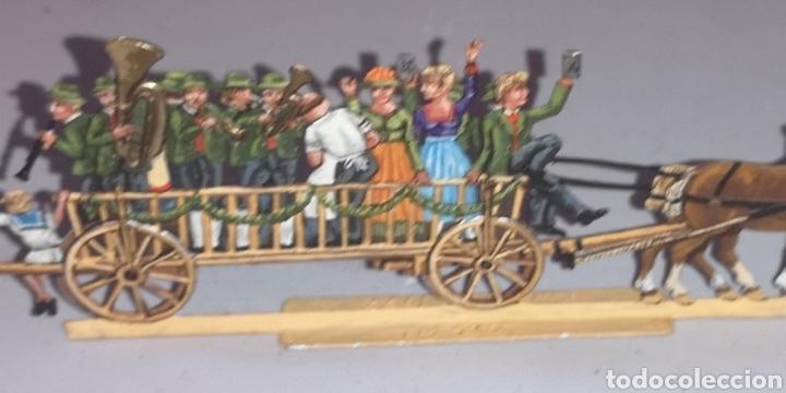 Juguetes Antiguos: Soldados de plomo figuras representando siglo 19 Baviera tren caballos y personajes - Foto 13 - 171693429