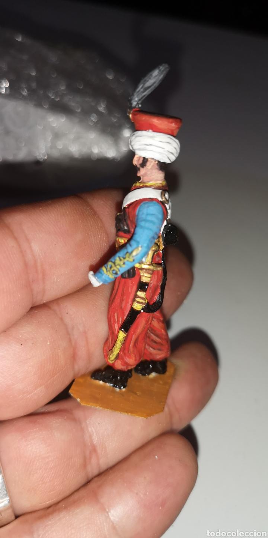 Juguetes Antiguos: Soldado de plomo pintado a mano artesanalmente representando mameluco ruso - Foto 2 - 171695617