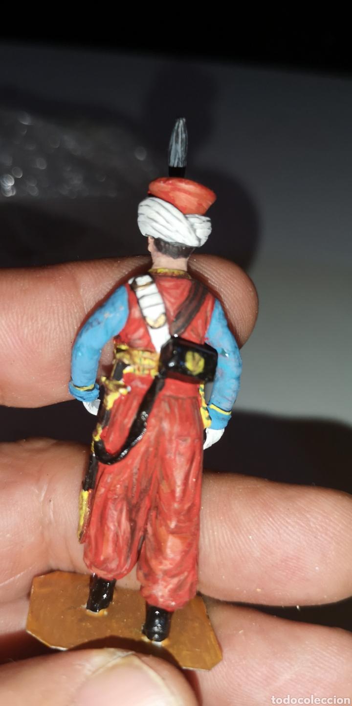 Juguetes Antiguos: Soldado de plomo pintado a mano artesanalmente representando mameluco ruso - Foto 3 - 171695617