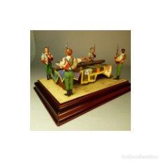 Juguetes Antiguos: LEGIONARIOS DE PLOMO RINDIENDO HONORES A CRISTO, EXPECTULAR.54MM EXCELENTE CALIDAD. Lote 171714095
