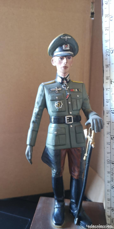 Juguetes Antiguos: Figura de plomo representando oficial de caballería alemana 1940 - Foto 9 - 173894062
