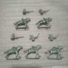 Juguetes Antiguos: 5 FIGURAS DE SOLDADOS A CABALLO EN PLOMO PARA PINTAR WF. Lote 174591008