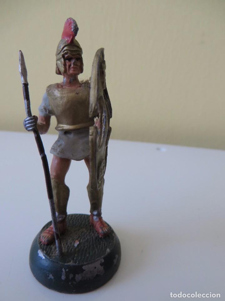 Juguetes Antiguos: DOS FIGURAS centuriónes romanos de PLOMO - Foto 4 - 175701652